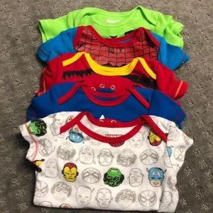 5 marvel onesies